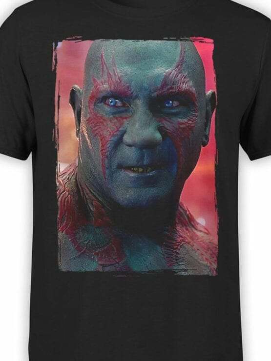 1175 Guardians of the Galaxy T Shirt Drax the Destroyer Front Color