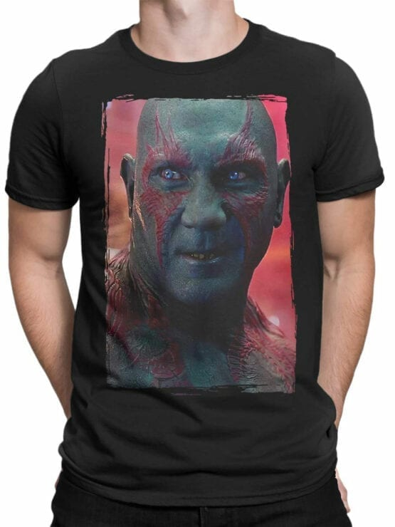 1175 Guardians of the Galaxy T Shirt Drax the Destroyer Front Man