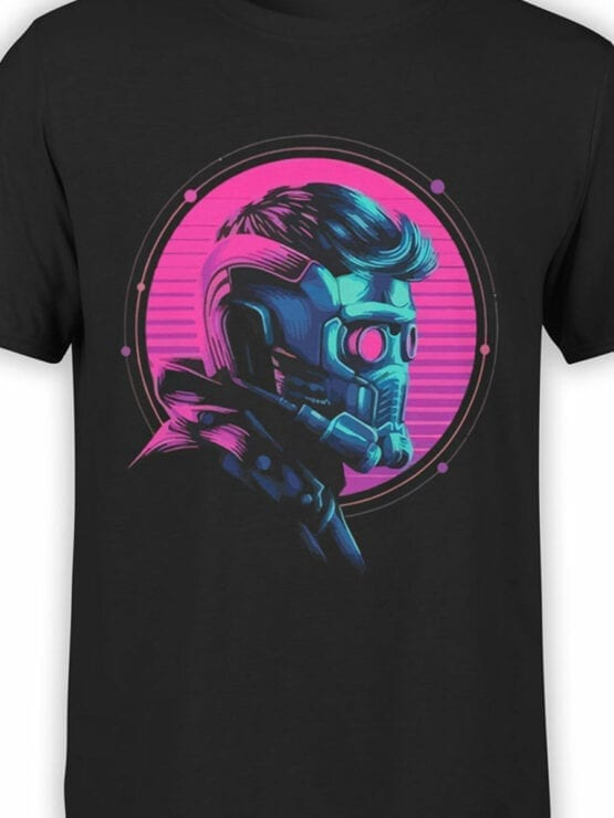 1177 Guardians of the Galaxy T Shirt Star Lord Helmet Front Color
