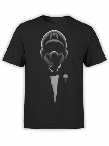 1201 Super Mario T Shirt Godfather Mario Front