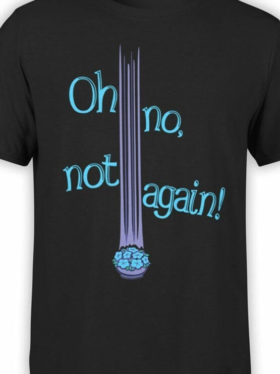 1213 The Hitchhikers Guide to the Galaxy T Shirt Not Again Front Color