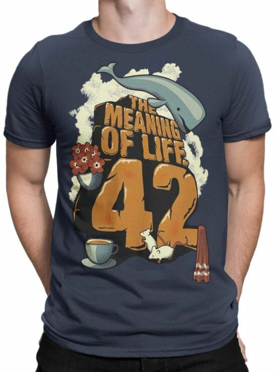 1214 The Hitchhikers Guide to the Galaxy T Shirt Meaning Front Man