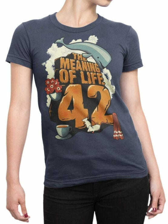 1214 The Hitchhikers Guide to the Galaxy T Shirt Meaning Front Woman
