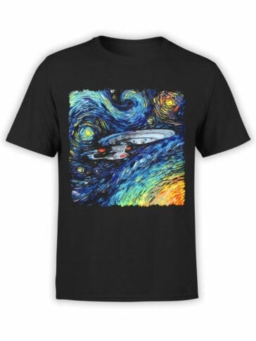 41194 Star Trek T Shirt Van Gogh Enterprise Front
