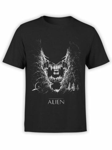 1222 Alien T Shirt Black Front