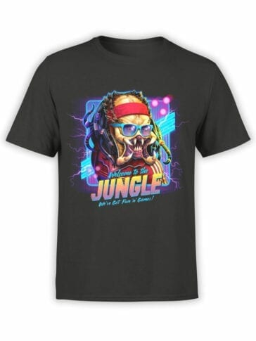 1224 Alien T Shirt Jungle Front