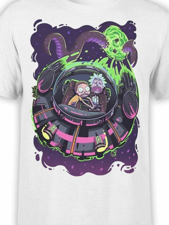 1232 Rick and Morty T Shirt Sleep Front Color