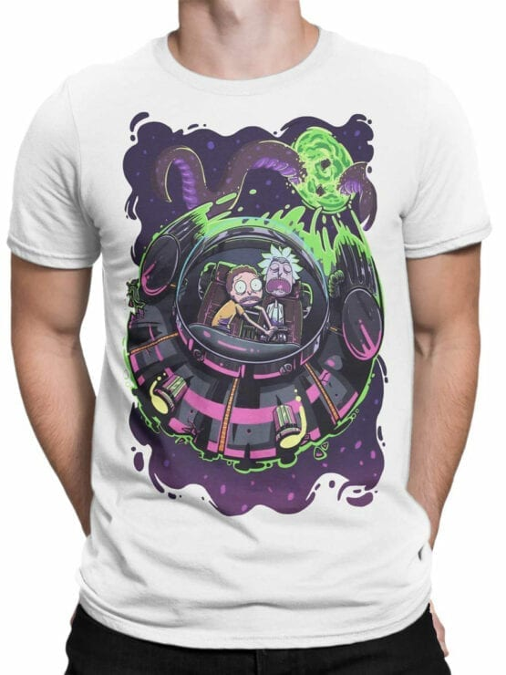 1232 Rick and Morty T Shirt Sleep Front Man