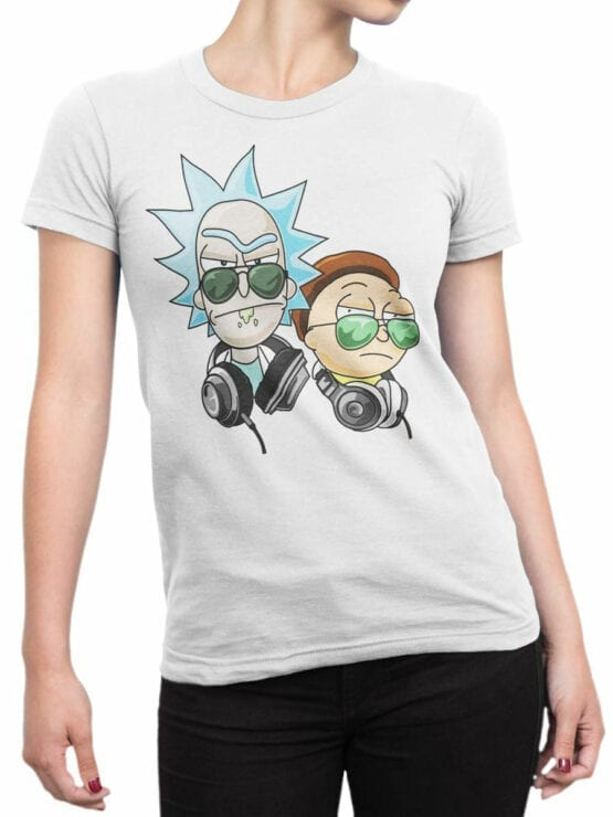1244 Rick and Morty T Shirt Coolest Front Woman