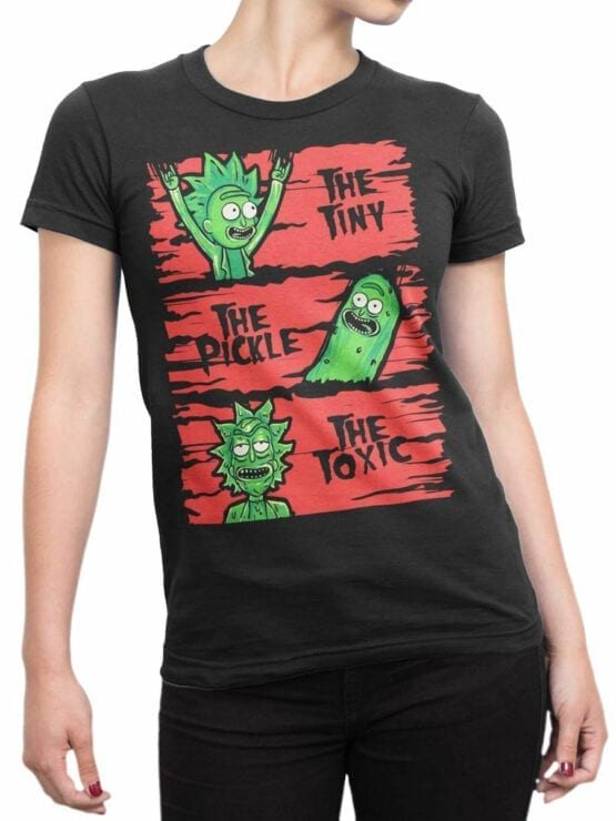 1245 Rick and Morty T Shirt TPT Front Woman