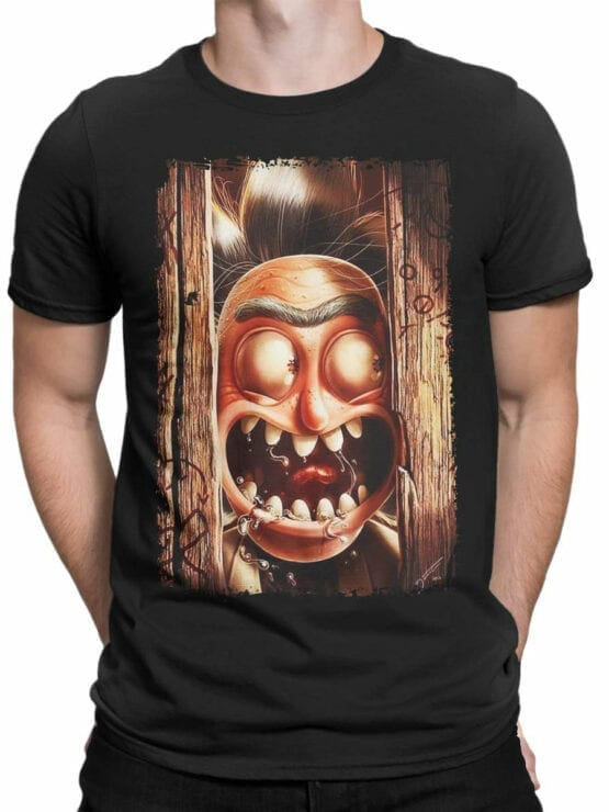 1247 Rick and Morty T Shirt Hey Front Man
