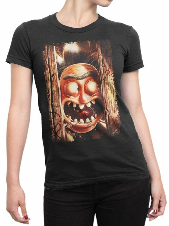 1247 Rick and Morty T Shirt Hey Front Woman