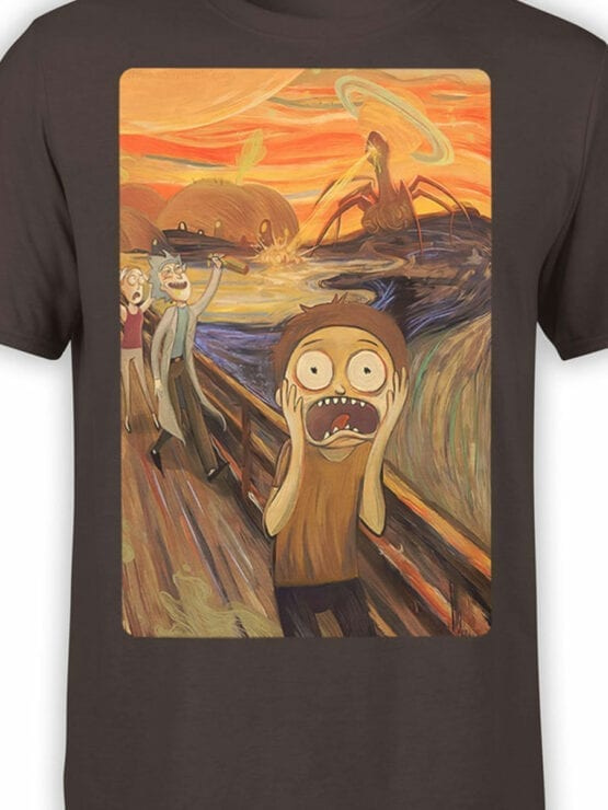 1249 Rick and Morty T Shirt Fear Front Color