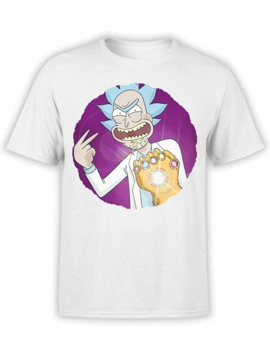 1250 Rick and Morty T Shirt Thanos Front
