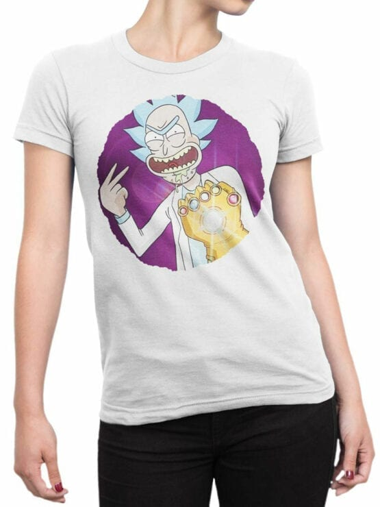 1250 Rick and Morty T Shirt Thanos Front Woman