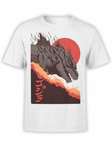1273 Godzilla T Shirt Sunset Front