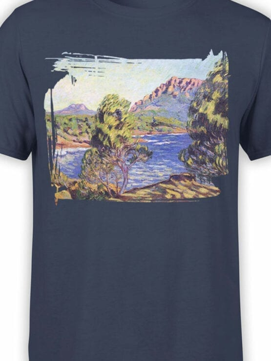 1341 Armand Guillaumin T Shirt Agay the Bay during the Mistral Front Color
