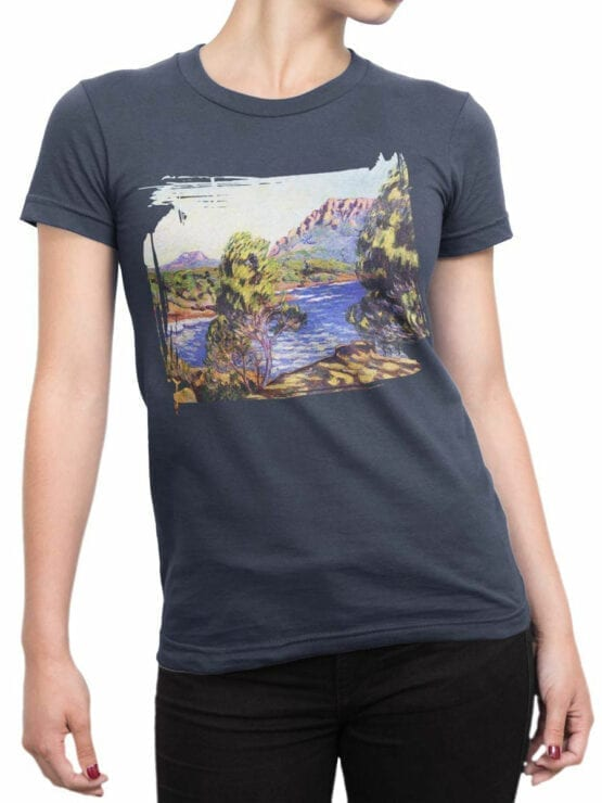 1341 Armand Guillaumin T Shirt Agay the Bay during the Mistral Front Woman