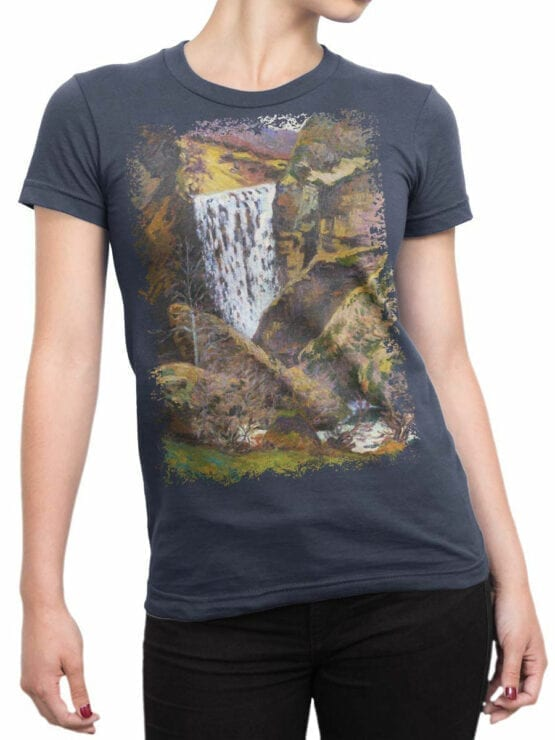 1346 Armand Guillaumin T Shirt Landscape of the Creuse Front Woman