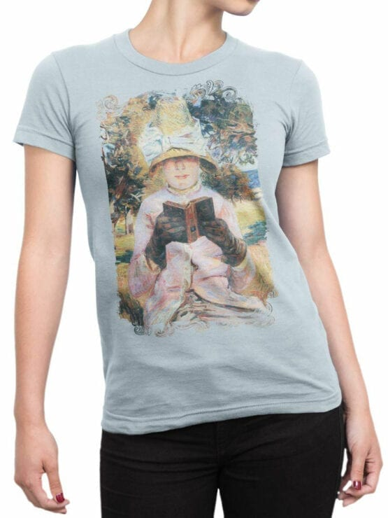 1349 Armand Guillaumin T Shirt Madame Guillaumin Reading Front Woman