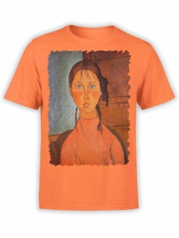 1366 Amedeo Modigliani T Shirt Girl with Pigtails Front