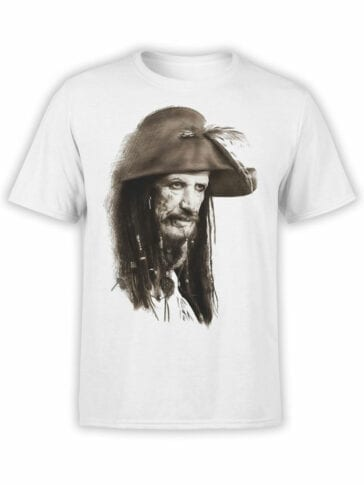 1372 Pirates of the Caribbean T Shirt Captain Teague Front