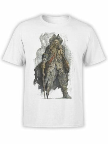 1374 Pirates of the Caribbean T Shirt Davy Jones Front