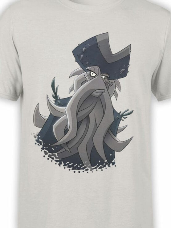 1376 Pirates of the Caribbean T Shirt Cute Davy Jones Front Color
