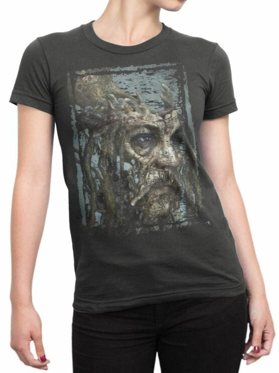 1380 Pirates of the Caribbean T Shirt Dead Jack Front Woman