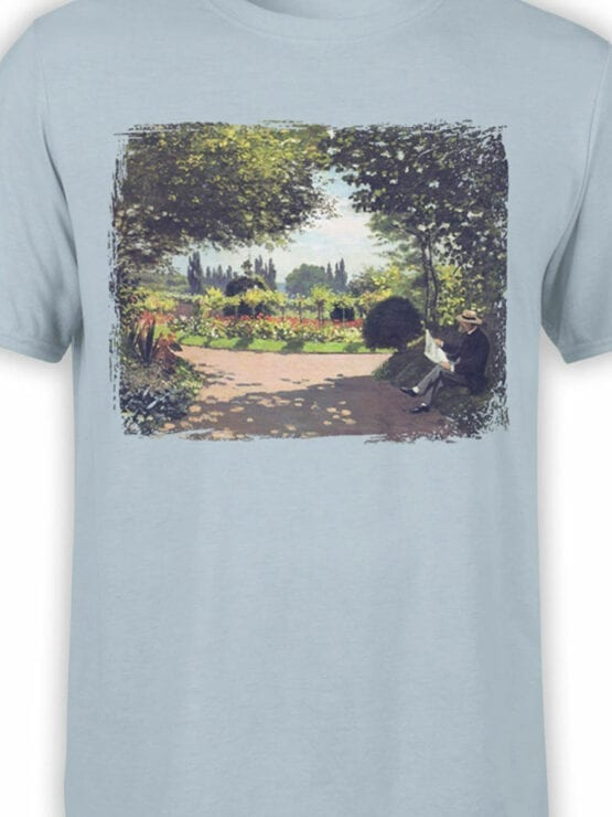 1401 Claude Monet T Shirt Reading in the Garden Front Color