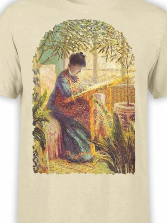 1407 Claude Monet T Shirt Camille Embroidering Front Color
