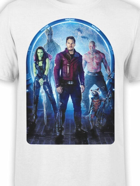 1411 Guardians of the Galaxy T Shirt Team Front Color