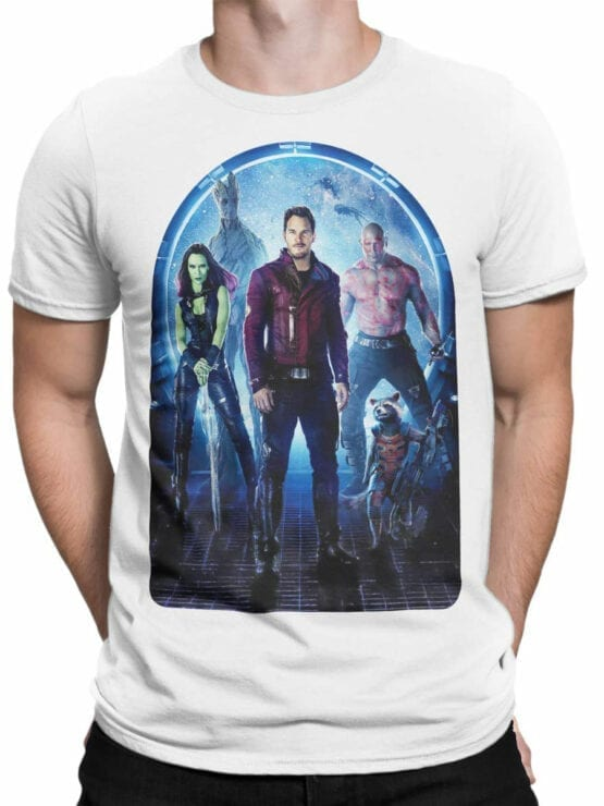 1411 Guardians of the Galaxy T Shirt Team Front Man