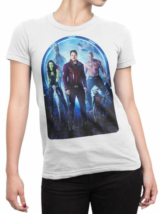 1411 Guardians of the Galaxy T Shirt Team Front Woman