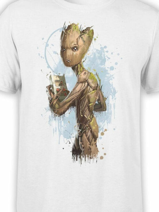 1412 Guardians of the Galaxy T Shirt Teenage Groot Front Color