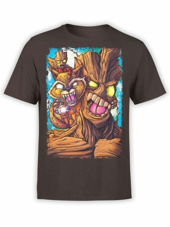 1419 Guardians of the Galaxy T Shirt Rage Front