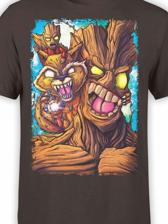 1419 Guardians of the Galaxy T Shirt Rage Front Color