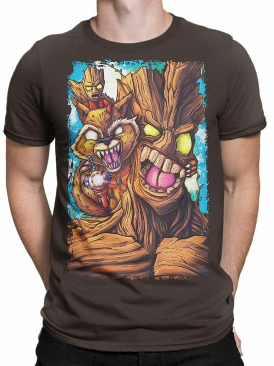 1419 Guardians of the Galaxy T Shirt Rage Front Man