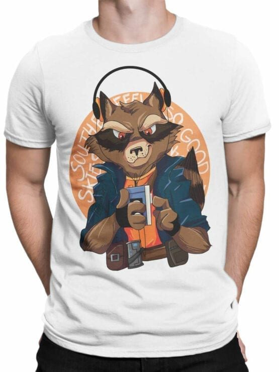 1420 Guardians of the Galaxy T Shirt Rocket Front Man