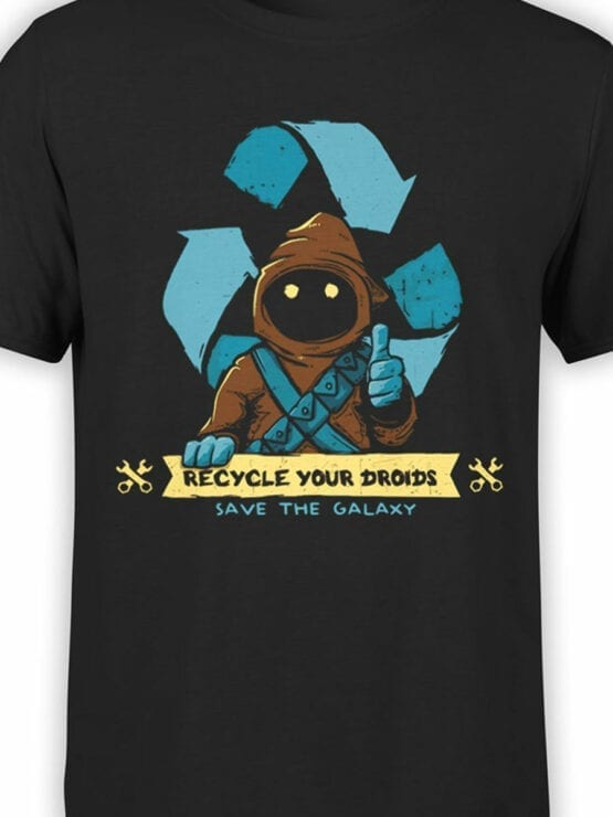 1431 Star Wars T Shirt Recycle Front Color