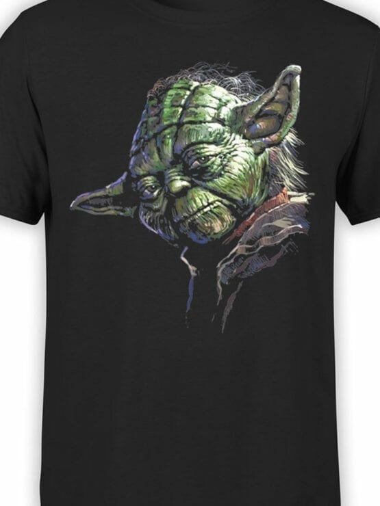 1437 Star Wars T Shirt Master Yoda Front Color