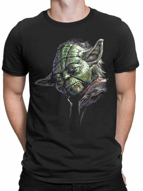 1437 Star Wars T Shirt Master Yoda Front Man