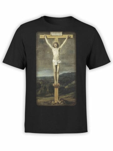 1444 Diego Velazquez T Shirt The Crucifixion Of Christ Front