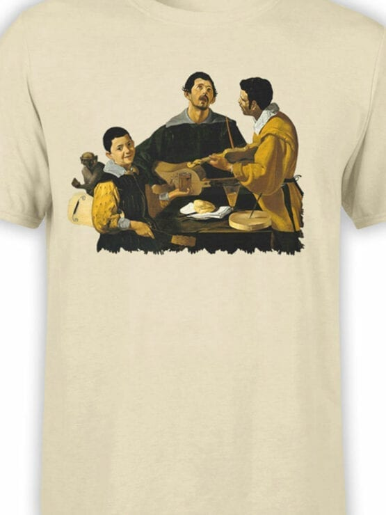 1448 Diego Velazquez T Shirt The Three Musicians Front Color