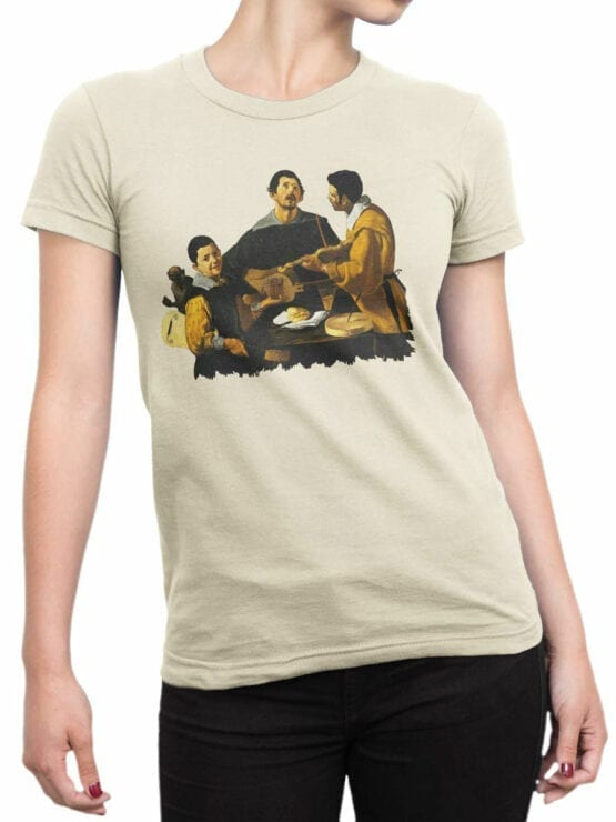 1448 Diego Velazquez T Shirt The Three Musicians Front Woman