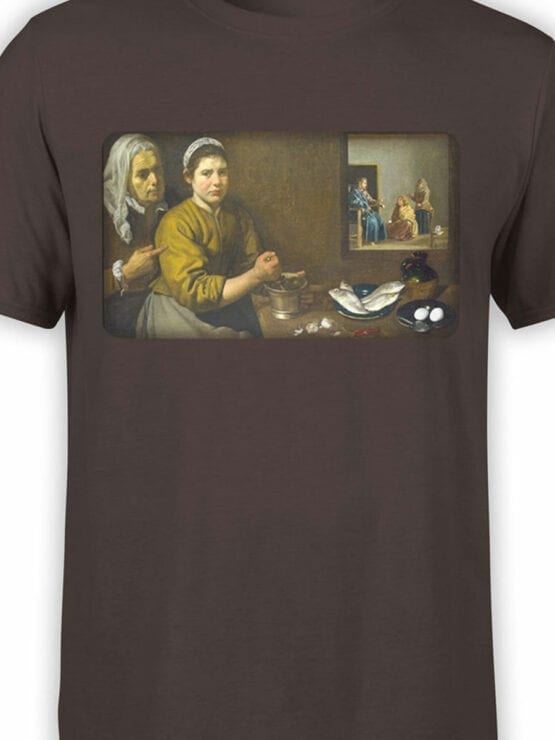 1449 Diego Velazquez T Shirt Christ in the House of Martha and Mary Front Color