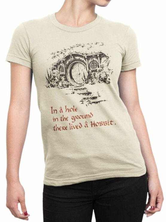 1461 The Lord of the Rings T Shirt Hobbiton Front Woman