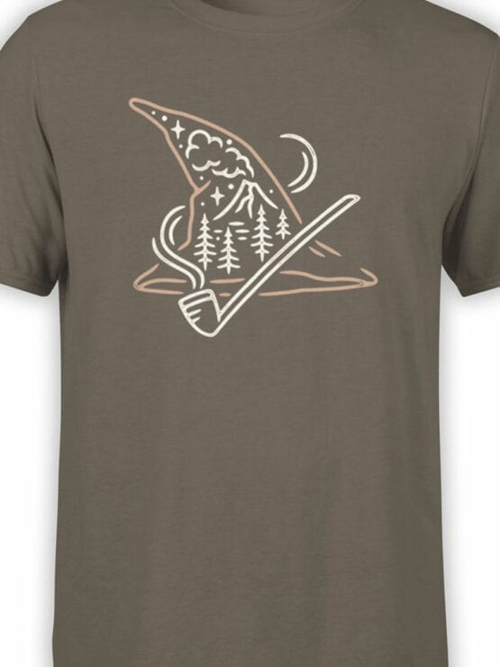 1462 The Lord of the Rings T Shirt Gandalf Hat Front Color