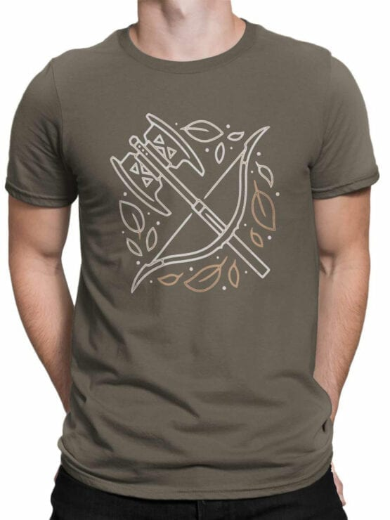 1466 The Lord of the Rings T Shirt Weapon Front Man