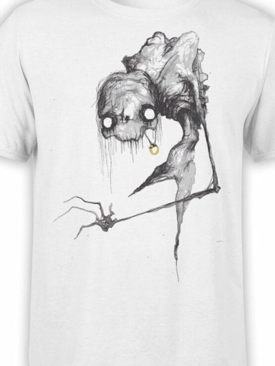 1470 The Lord of the Rings T Shirt Scary Gollum Front Color